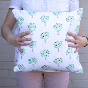Green Tree Of Hearts Cushion