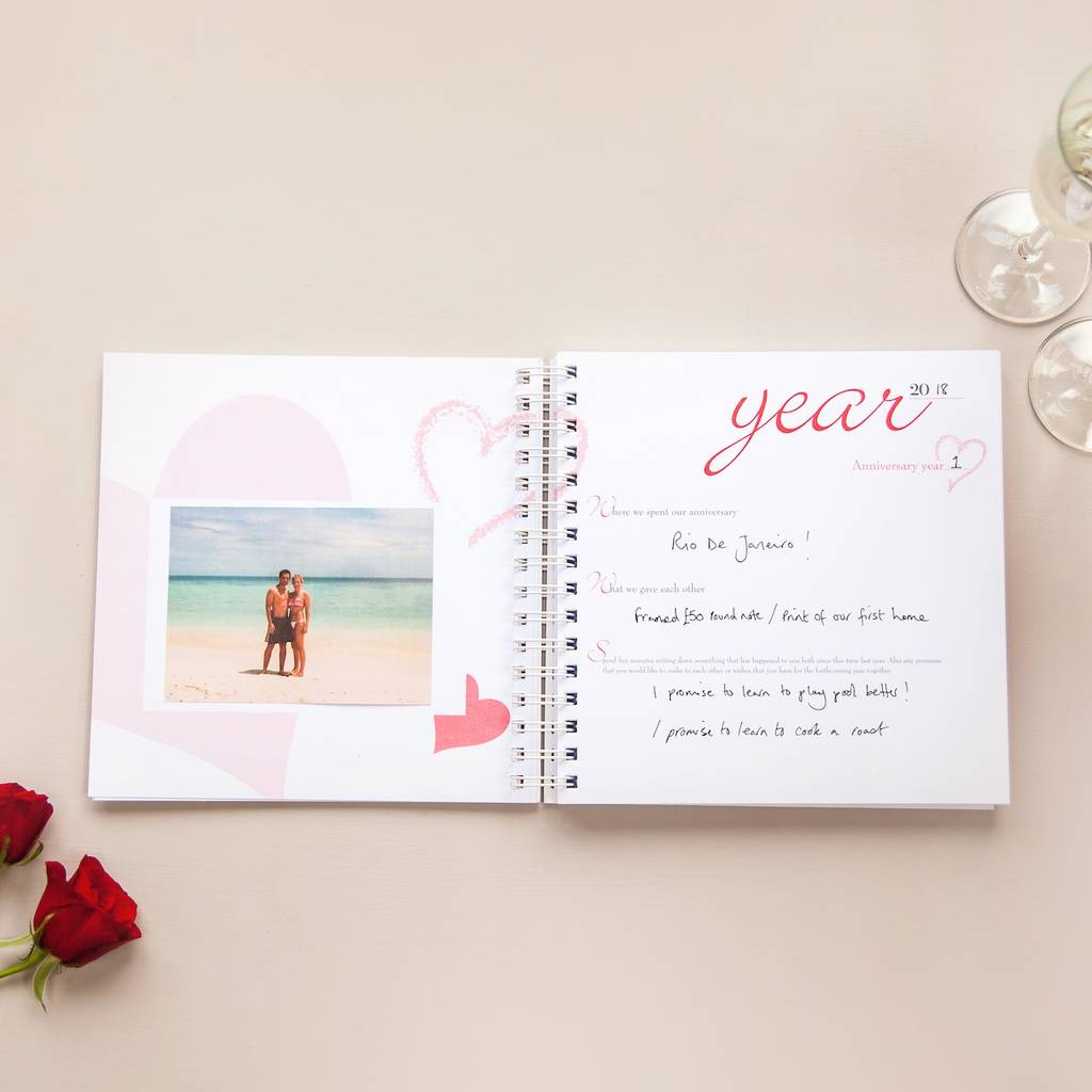 1st To 50th Wedding Anniversary Memory Book By Two Little Boys
