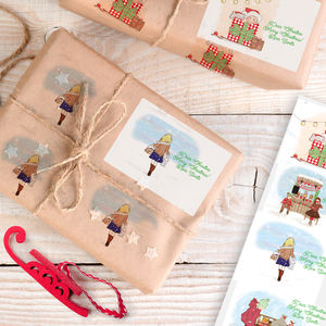 Children's Personalised Christmas Gift Sticker Labels