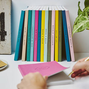 Set Of Five Personalised Spine Notebooks - gifts for her