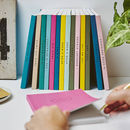 Set Of Five Personalised Spine Notebooks