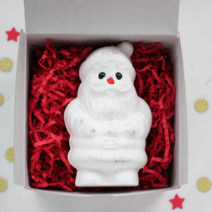 Father Christmas Bath Fizzy In Gift Box - bath & body