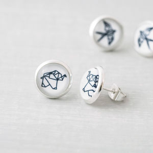 Origami Animal Stud Earrings