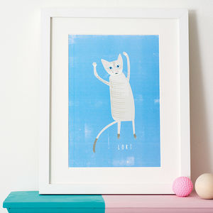 Bespoke Custom Cat Portrait - battersea dogs & cats home collection