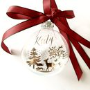 Winter Forest Scene Christmas Bauble