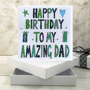 Personalised Dad Birthday Book Card