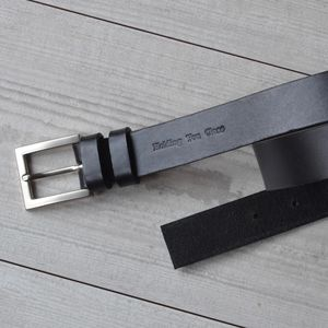 Wedding Day Black Handmade Italian Hide Suit Belt - belts