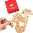 Personalised Wooden Heart Jigsaw Puzzle