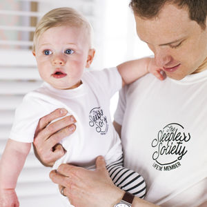 Daddy And Me 'Sleepless Society' T Shirt Set - new in baby & child