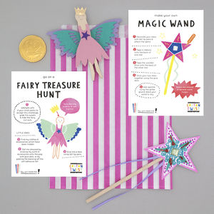 Fairy Party Bag With Wand And Peg Doll Kits