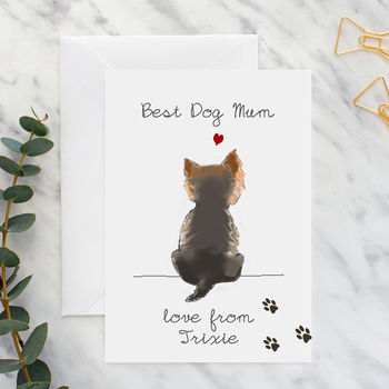 Best Dog Mum Card A5