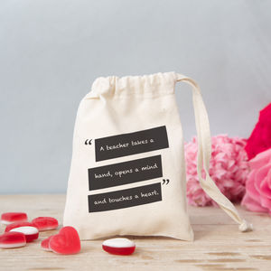 Teacher Quote Mini Gift Bag With Sweets