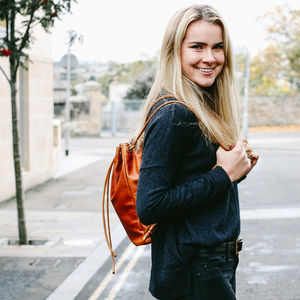 Personalised Freya Leather Backpack
