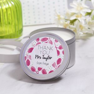 Personalised Thank You Teacher Scented Tin Candle - shop by occasion