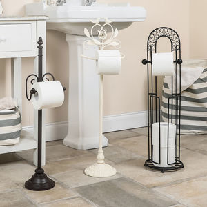 Decorative Free Standing Toilet Roll Holder Collection - toilet roll holders