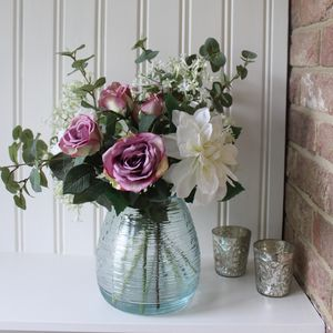 Artificial Dahlia And Rose Vase Arrangement - what's new