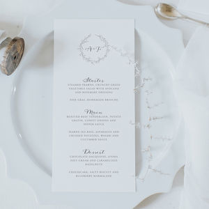 Anna Menu Card - shoreline wedding trend