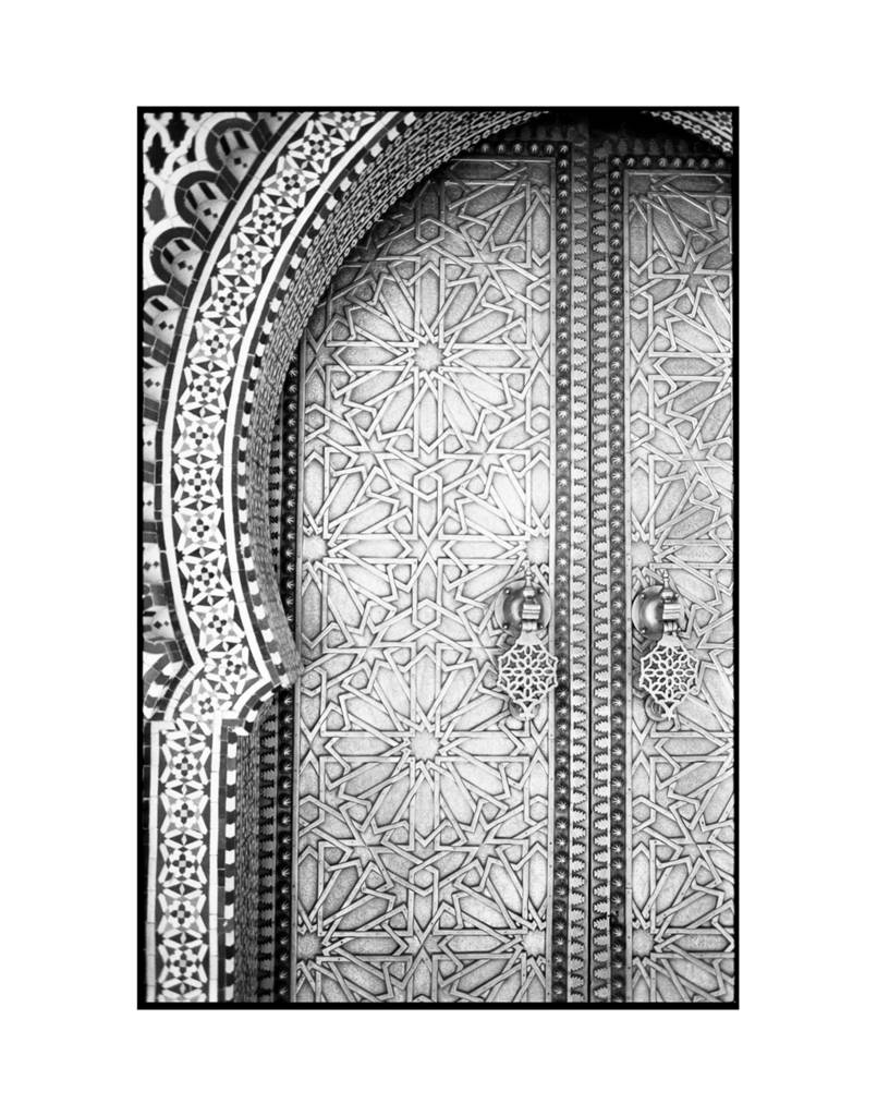 Ornate Doors Fes Morocco Art Print  sc 1 st  Notonthehighstreet.com & ornate doors fes morocco art print by paul cooklin ...