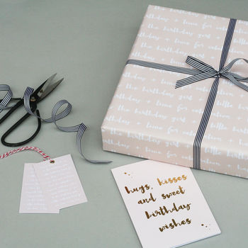 Luxury Birthday Girl Wrapping Paper Bundle