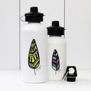 Personalised Feather Water Bottle