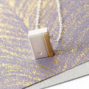 Diamond Rectangle Sterling Silver Pendant