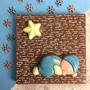 New Baby Boy Personalised Milk Chocolate Message Gift