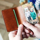 Personalised Leather Card Holder With Photo