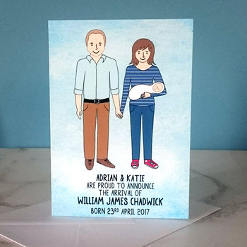 New Baby Announcement Portrait Card