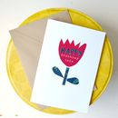 Personalised 'Happy Birthday' Petals Card
