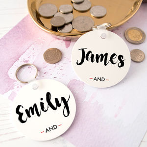 Personalised Infinity Keyring For Couples - women's accessories