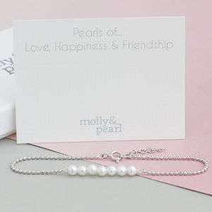 Pearls Of Love, Happiness And Friendship Bracelet - bracelets & bangles