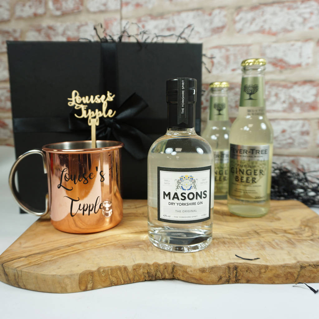 moscow mule gin and copper mug gift set by perfect personalised gifts. Black Bedroom Furniture Sets. Home Design Ideas
