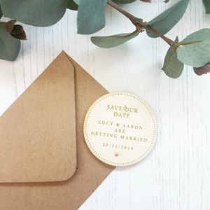 Wedding Rings Wooden Save The Date Magnet - invitations