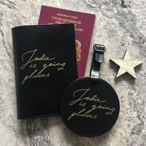 Luggage Tag And Passport Set - passport covers