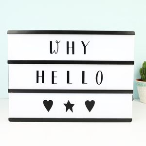 A4 Wooden LED Light Box With Letters - children's room