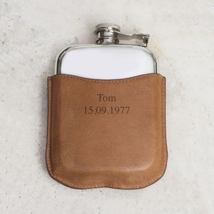 Mr Hardy Personalised Hipflask - gifts for him