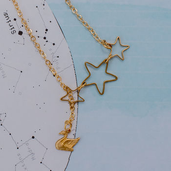 Swan And Star Lariat Necklace