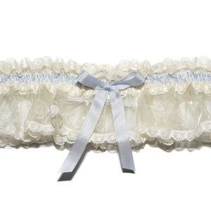 Elphie Ivory Or Cream Vintage Lace Wedding Garter - lingerie accessories
