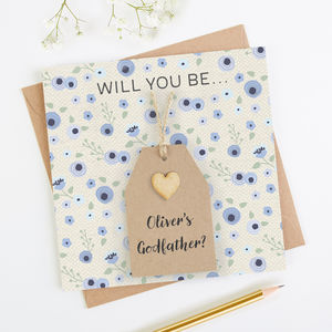 Will You Be My Godfather Personalised Card - be my godparent?