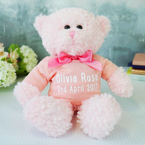 Personalised New Baby Teddy Bear Gift - baby & child sale