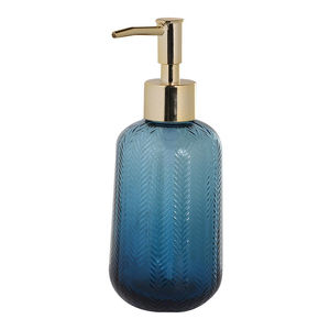 Blue Glass Soap Dispenser