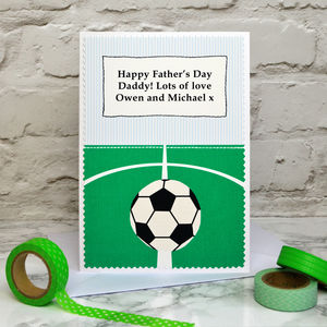 'Football' Personalised Fathers Day Card