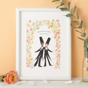 Personalised Botanicals Wedding Gift Print - 100 best wedding prints