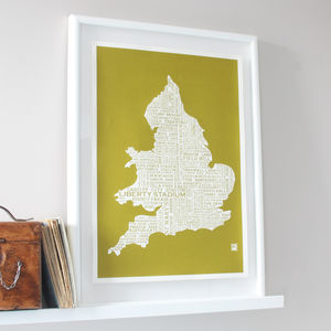 Football Grounds Map Print - for football lovers