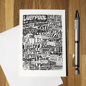 Liverpool The City Greetings Card