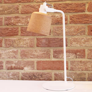 White And Cork Desk Lamp - table lamps