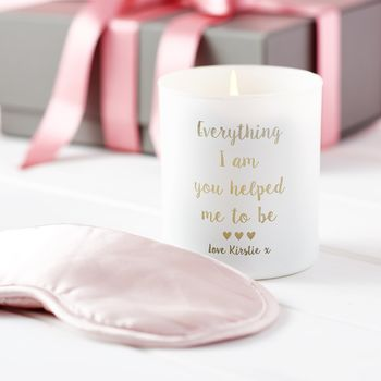 Personalised Candle And Silk Eye Mask Set