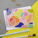 Multi Pack Of Eight Spot Print Notecards