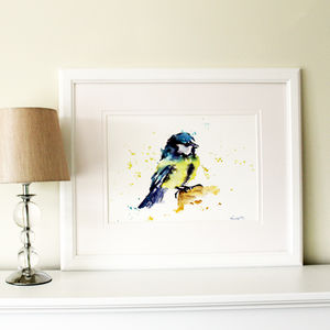 Blue Tit Painting, Mr Blue - canvas prints & art