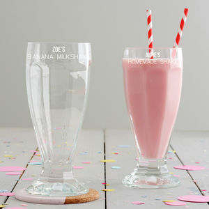 Personalised Milkshake Glass - gifts for her